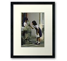 Not really made of stone! Framed Print