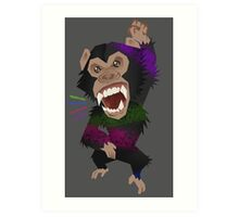 Chimp Smash Art Print