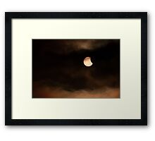 Solar Eclipse 2015 Beginning Framed Print