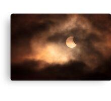 Solar Eclipse 2015 09.06am Canvas Print