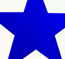 Blue Star Brother_whitebg Sticker