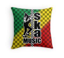 Ska Music Throw Pillow