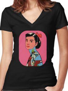 Audrey Loves Voltron Women's Fitted V-Neck T-Shirt