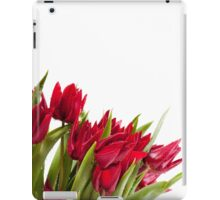 Red tulips bouquet sprinkled iPad Case/Skin