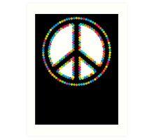 Circled Peace Sign Symbol 2 Art Print