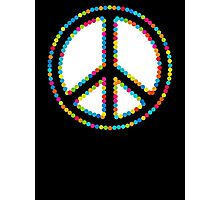 Circled Peace Sign Symbol 2 Photographic Print