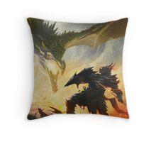 The Elder Scrolls V - Draconic Armor Throw Pillow