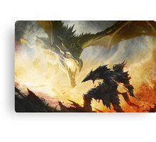 The Elder Scrolls V - Draconic Armor Canvas Print