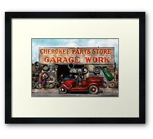Car - Garage - Cherokee Parts Store - 1936 Framed Print