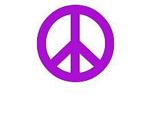 Purple Peace Sign Symbol Photographic Print