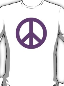 Purple Peace Sign Symbol T-Shirt