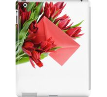 Red envelope in bouquet  iPad Case/Skin