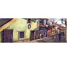 Prague Golden Line (Street) Photographic Print