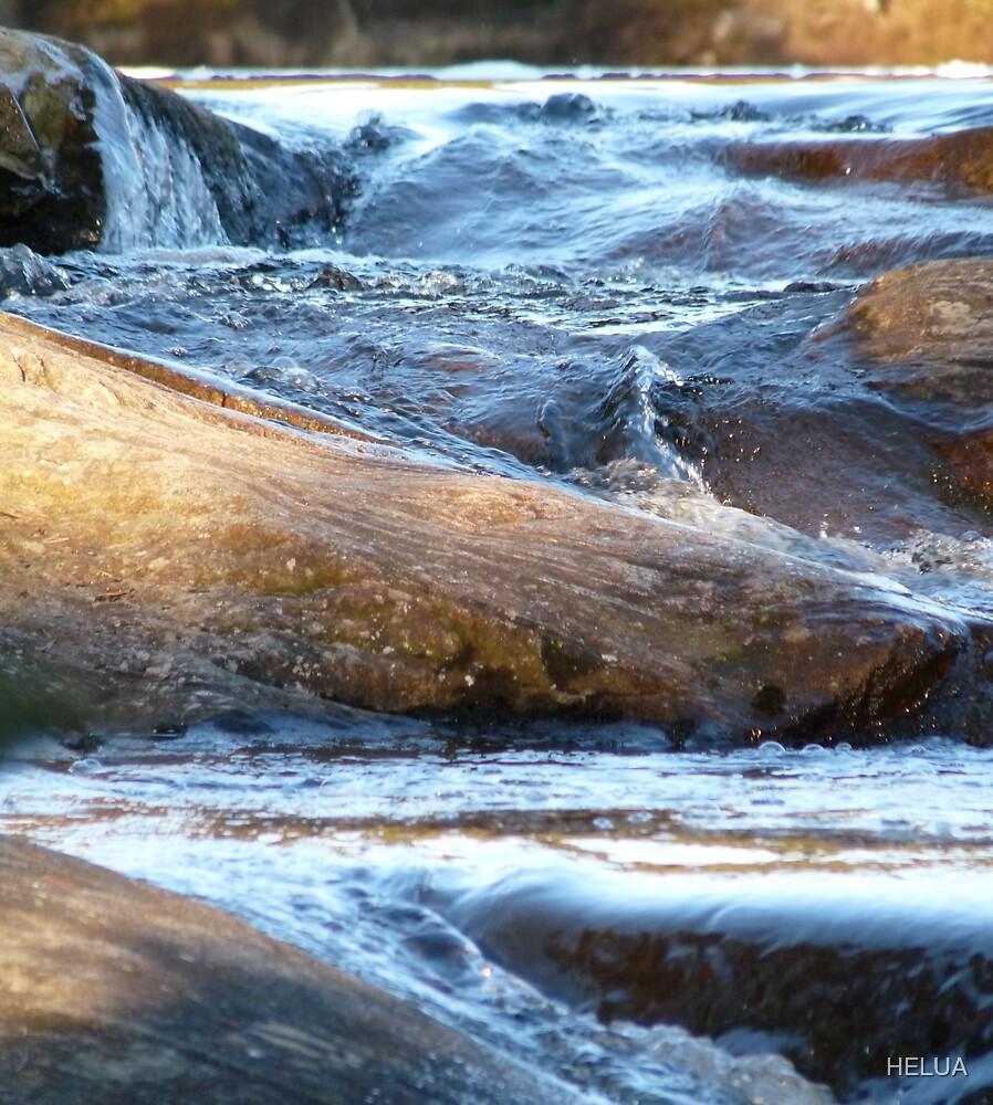 Ice Age - Water Motion Down Rocks by HELUA
