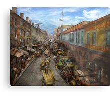 City - Baltimore MD - Traffic on light street - 1906 Metal Print
