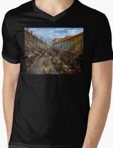 City - Baltimore MD - Traffic on light street - 1906 Mens V-Neck T-Shirt