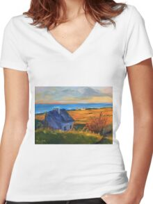 Coastal Bliss Women's Fitted V-Neck T-Shirt