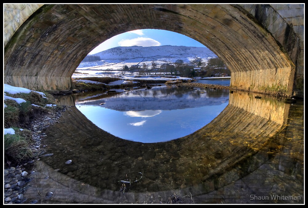 Burnsall Bridge reflection by Shaun Whiteman