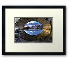 Burnsall Bridge reflection Framed Print