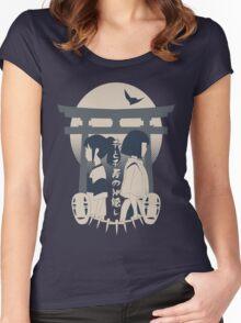 Spirited Away (blue) Women's Fitted Scoop T-Shirt