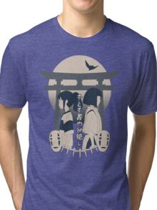 Spirited Away (blue) Tri-blend T-Shirt