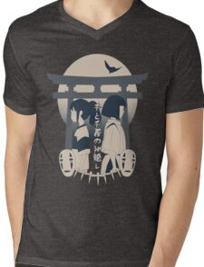 Spirited Away (blue) Mens V-Neck T-Shirt