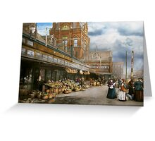 City - Kansas City farmers market - 1906 Greeting Card