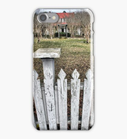 A view of the old plantation iPhone Case/Skin