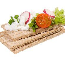 dry crisp bread slices by Arletta Cwalina