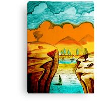 Hand Drawn Landscape Canvas Print