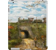 Train - Arlington, NJ - Enjoying the Autumn Day - 1890 iPad Case/Skin