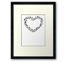 Music Notes Heart Framed Print