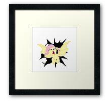 Crash in  Flutterbat Framed Print