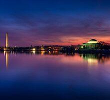 Washington DC Monuments at Sunrise by DanGirardPhotos