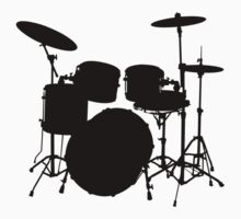 Drum Set Icon Symbol by popculture
