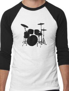 Drum Set Icon Symbol Men's Baseball ¾ T-Shirt
