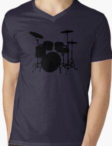 Drum Set Icon Symbol Mens V-Neck T-Shirt