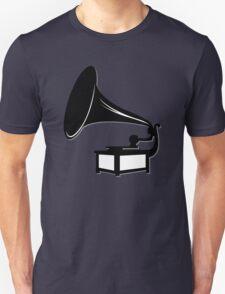 Gramophone Icon Symbol Unisex T-Shirt