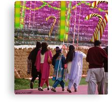 We Are Going Up To The Ginger Roti Mahal Canvas Print