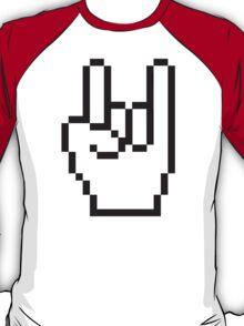 8 Bit Head Banger Symbol T-Shirt