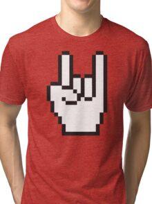 8 Bit Head Banger Symbol Tri-blend T-Shirt