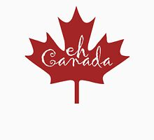 Eh Canada red maple leaf Womens Fitted T-Shirt