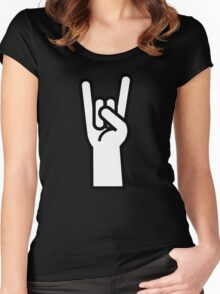 Heavy Metal Head Banger Women's Fitted Scoop T-Shirt