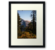 Half Dome in the middle during afternoon sun Framed Print