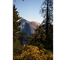 Half Dome in the middle during afternoon sun Photographic Print