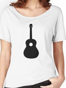Black Acoustic Guitar Women's Relaxed Fit T-Shirt