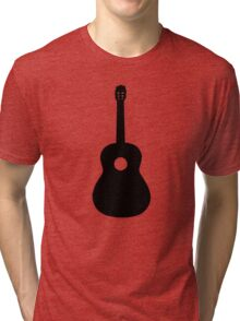 Black Acoustic Guitar Tri-blend T-Shirt