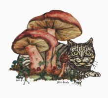 Mushroom and Cat Kids Clothes