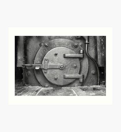 Locomotive Fuel Door Art Print