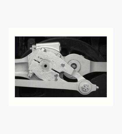 Locomotive drive mechanism Art Print